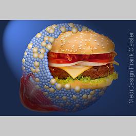 Fettreiche Ernährung, LDL-Cholesterin als Symbol für Fettsucht Adipositas