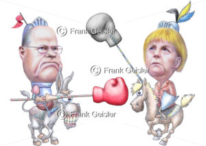 Bundestagswahl, Wahlen im Wahljahr 2013, Wahlkampf Peer Steinbrück gegen Angela Merkel - Medical Pictures