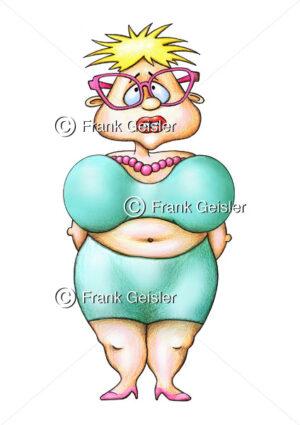 Cartoon Bluthochdruck durch Fettsucht, Adipositas - Medical Pictures