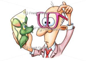 Cartoon Psychotherapie, Sicht des Psychotherapeuten oder Psychiater - Medical Pictures