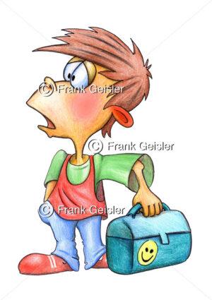 Cartoon Pubertät Knabe, Latenz während Adoleszenz - Medical Pictures