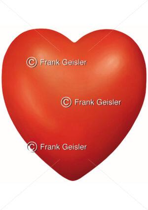 Medical Art Herz als Symbol für Liebe - Medical Pictures