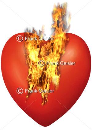 Medical Art brennendes Herz, Herzschmerz, Herzfeuer - Medical Pictures