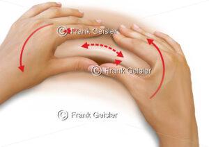 Physiotherapie Massage, Massagetherapie der Haut, Massagegriff Petrissage, Knetung - Medical Pictures